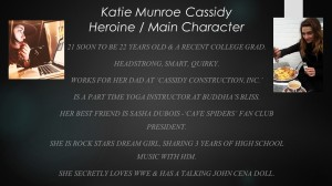 Katie is a 'Courier' at Cassidy & Tom Cassidy's daughter